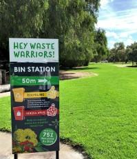 Sign in park, Australia