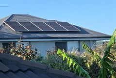 Solar panels on house, Australia