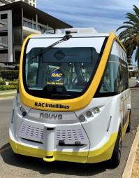Electric driverless bus, Australia